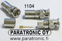AL-117 BNC uros puristettava, AL117 BNC-male crimp